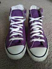 Purple Converse Sneakers, Women Size 10 / Men's 8