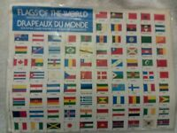 Vintage FLAGS OF THE WORLD Stamps for Albums - Sealed Package