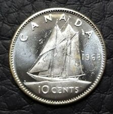UNC Mint State Silver 1968 Canada 10 Cents | Canadian Dime