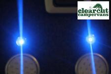 10 x Blue Campervan Single led Spot lights, Motorhome led lights, VW T4, VW T5