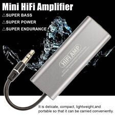 Mini 3.5mm Headphone Earphone HiFi Amplifier Stereo Audio AMP AUX For Cellphone