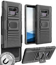 Black Magnet Grip Case Cover Belt Clip Holster Stand for Samsung Galaxy Note 9