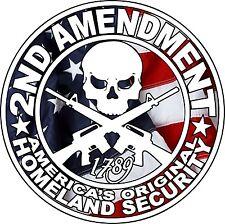2ND AMENDMENT GUN Sticker American flag, Car window 4x4 truck windows, Hunting