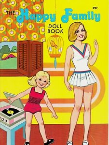 The Happy Family Doll Book Vintage Lowe Paper Doll Book 1973 Uncut Unused