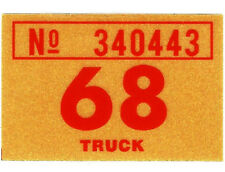 b158a25314e 1968 WASHINGTON Vinyl Sticker Decal - TRUCK License Registration TAB TAG -  New
