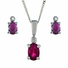 Ruby White Gold Fine Diamond Necklaces & Pendants
