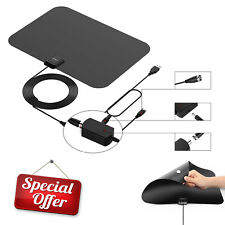 50-100 Miles Range Digital TV Antenna 1080P Amplified HDTV Booster USB Power HD