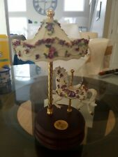"San Francisco Music Box Co. One Horse Carousel ""Passion Rose�"