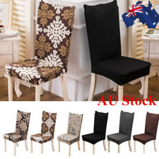 AU Washable Stretch Cotton Dining Chair Cover Removable Seat Slipcover Protector