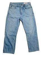 Rag & Bone Standard Issue Fit 3 Slim Straight Leg Denim Jeans 36x27 Light Wash
