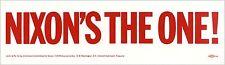 Official 1968 Richard NIXON'S THE ONE! Bumper Sticker (4281)