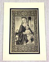 1927 Antico Stampa Italiano Vecchio Master Pittura la Sacra Famiglia Ritratto