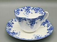 "Vintage Shelley ""Dainty Blue"" Cup and Saucer Set"