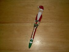 Christmas Pen With Santa Claus and wreath...Old..Rare...Ganz...REDUCED