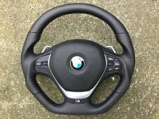 BMW M3 M4 M-PERFORMANCE SMG PADDLE FLAT BOTTOM NEW CUSTOM MADE STEERING WHEEL