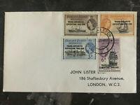 1957 Falkland Islands Cover # 1L34-1L37 FDC Trans antarctic Expedition England
