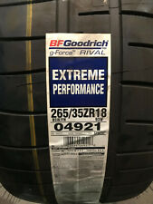 1 New 265 35 18 BFGoodrich g-Force Rival Extreme Performance Tire