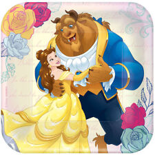 Beauty and the Beast Dessert Plates 8ct Belle Party Supplies Tableware Birthday