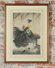 "Louis Icart ""Carmen Flamenco Dancer""Original 1928 colored Etching-Pencil Signed"
