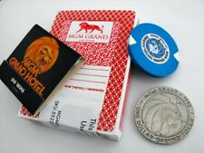 MGM GRAND CASINO Vintage Las Vegas $1 CHIP Playing Cards TOKEN MATCHBOOK