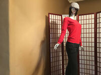 Mossimo Red Casual Long Sleeve Knit Sweater Womens Sze XS Apparel Cotton Garment