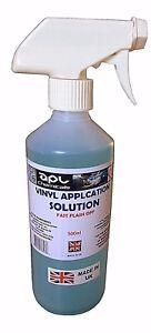 vinyl application fluid decal slide re positioning fluid 500 ml