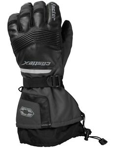 Castle X Factor Gloves Leather Dark Gray Mens sizes L-2XL snowmobile glove