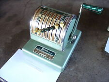 Vintage Antique The Paymaster System 7 Column Series 550 Checkwriter