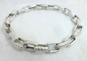 """David Yurman Extra Large Link Bracelet in Sterling Silver 10 1/2"""" inches 48.64 g"""