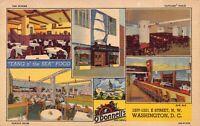 Linen Postcard O'Donnell's Sea Grill Restaurant in Washington D.C.~128918
