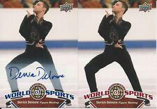 Derrick Delmore 2 Card Lot 2010 Upper Deck World Of Sports Autographs # 226
