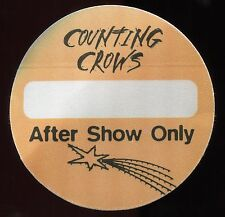 Counting Crows 1996 Satellites Concert Tour Backstage Pass! Authentic Otto