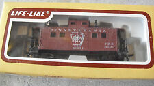 Vintage Ho Scale Life Like Pennsylvania Brown Caboose Car 91351 in Box