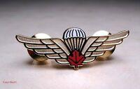 Canadian Airborne Parawings Red Maple Leaf Medium Metal Wing
