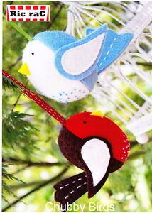 PATTERN - Chubby Birds - fun bird ornaments mini PATTERN - Creative Card