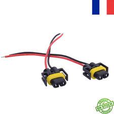 2x Câble Conversion Adaptateur Femelle fiche Connecteur Douille Phare Feu H8 H11