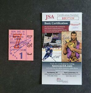 Mike Ditka signed 1963 Chicago Bears Football Ticket Stub - Jsa