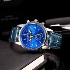 men's military leather quartz analog luxury casual dress business wrist watches