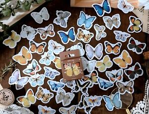BUTTERFLY STICKERS Insect Flower Scrapbook Journal Diary Card Craft Decoration