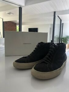 Common Projects High Top Achilles Suede - Grey - Size 41