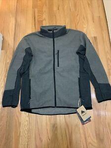 Burton Snowboards Minturn FZ Polartec Fleece Jacket Gray Black Sz XL NWT $150