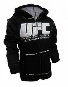 Toddler's UFC Ultimate Fighting Championship Black and White Hoodie Sweatshirt