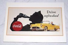 Postcard Coca-Cola of the Drive Refreshed Ad from 1950's Unposted B1G2F