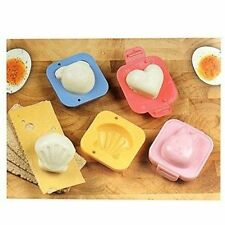NEW 4 BOILED EGG SHAPERS MOULD SUSHI RICE BENTO HEART SHELL RABBIT BEAR