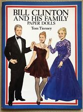 Tom Tierney Paper Dolls ~ Bill Hillary Clinton & Family ~ 1994 presidents dolls