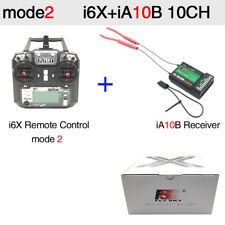 Flysky FS-i6X 10CH 2.4G RC Transmitter with iA10B Receiver for Drone Quadcopter