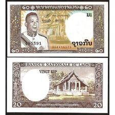 LAOS  20 Kip 1963 UNC P 11 b