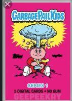 DIGITAL Topps / WAX Digital Garbage Pail Kids GPK 5 Card Pack SERIES 1 NFT OS1