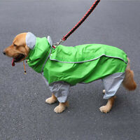 Pet Dog Puppy Raincoat Four-legged Large Dog Golden Retriever Samoyed Coat