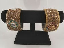 Indian Diamond bangles kada bracelet wedding party wear jewelry (Ships from USA)